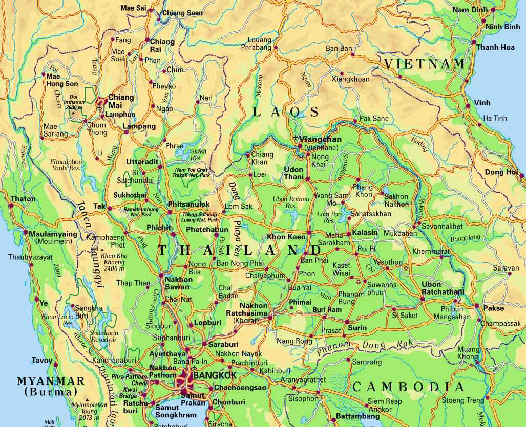 MAPS OF THAILAND - Map of thailand cities